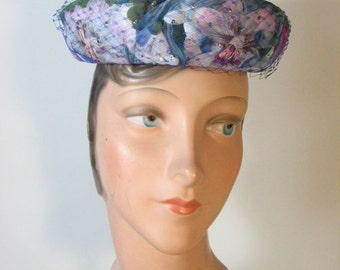 1960s  Floral Amy of New York Hat