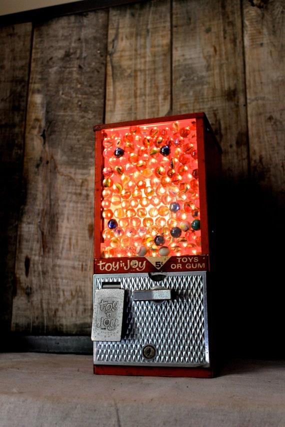 Toy N Joy Machine : Vintage toy n joy gum ball machine accent