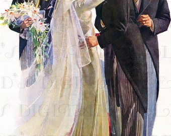 Vintage Wedding Illustration
