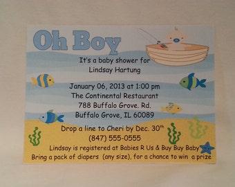Printable Fishing Baby Shower Invite