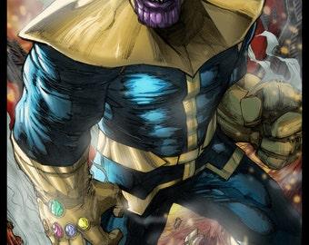 Thanos Colored Print by Hanzozuken