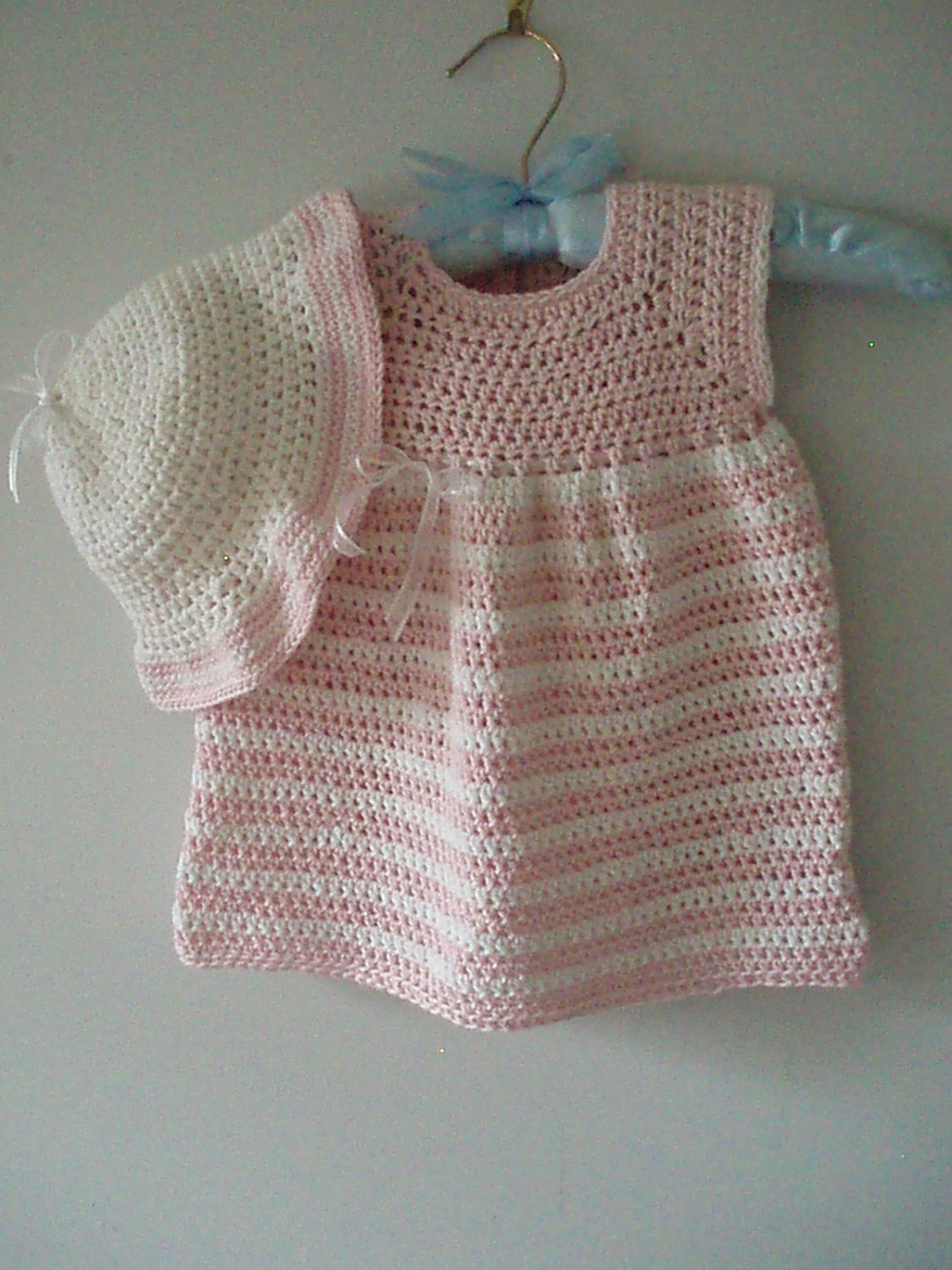 Baby Crochet Patterns For Summer : Crochet Pattern for a Summer Dress and Sunhat for Babies and