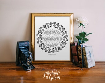 Nursery Bible Verse Print, Scripture art, Christian wall decor poster, Inspirational Psalm 139, You knitted me together - Digital