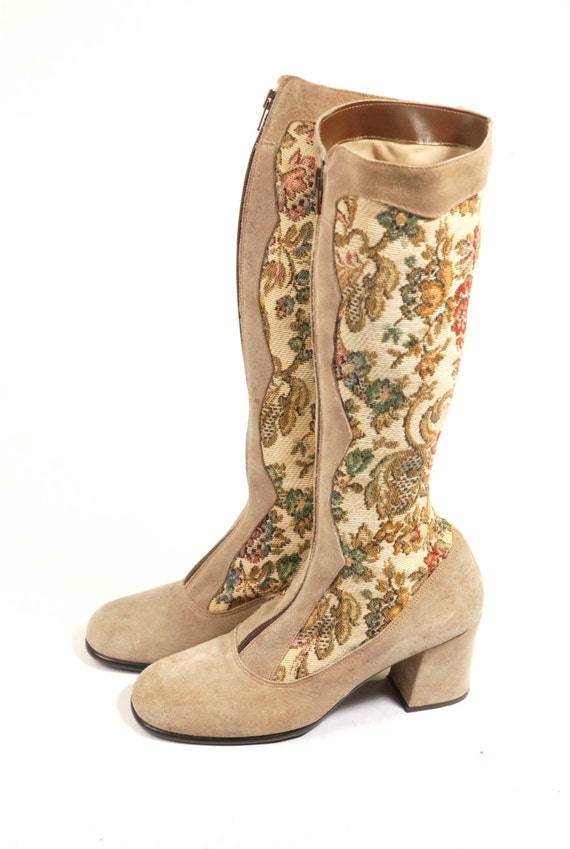 reserved tapestry boots hippie shoes by