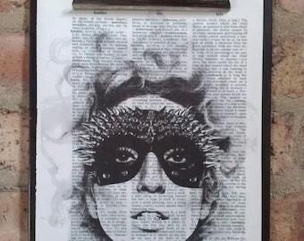 Lady Gaga Mask  Print