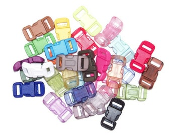 """Paracord Buckles 1/2"""" Standard - Choose from 30 Colors"""
