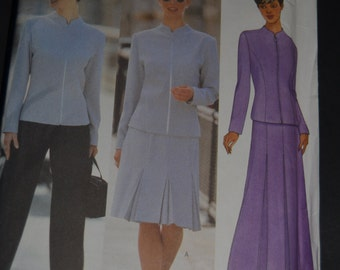Butterick 6341 Misses Petite Jacket Skirt and Pants Sewing Pattern - UNCUT - Sizes 6 8 10