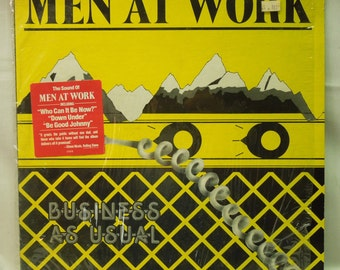 Men At Work Record - Vintage 80s vinyl LP - Business As Usual - 1981