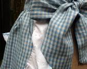SALE // 1950s Vintage Style Kitchen Apron // Handmade Blue Gingham Cotton // Retro