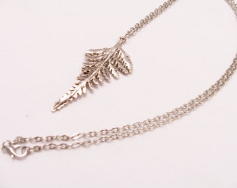 Metal leaf pendant necklace - metal leaf jewelry - leaf pendant - metal necklace - leaf necklace - metal leaf - leaf jewelry - leaf themed