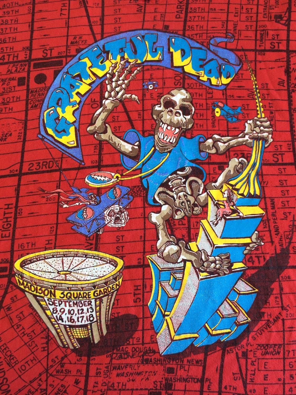 Grateful Dead T Shirt 1991 Original Nyc Madison Square Garden