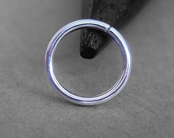 18 Gauge, Sterling Silver Endless Hoop, Silver Nose Ring Hoop, Tragus Jewelry, You Choose Diameter, 6mm, 7mm, 8mm, 9mm, 10mm, 11mm