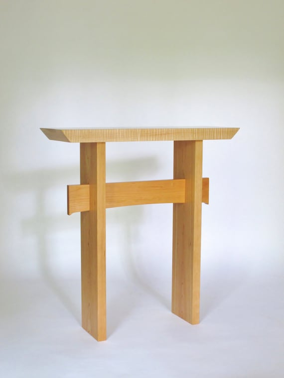 small narrow side table wood entry table console table