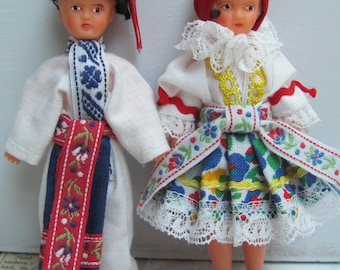 Ari dolls, couple for dollhouse, very rare