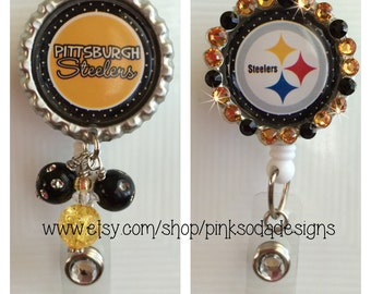 Pittsburg Steelers Inspired - Retractable ID Badge Holder