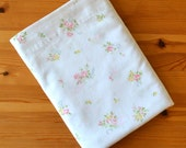 Vintage Sheets, Pink and Yellow Floral Flat Sheets