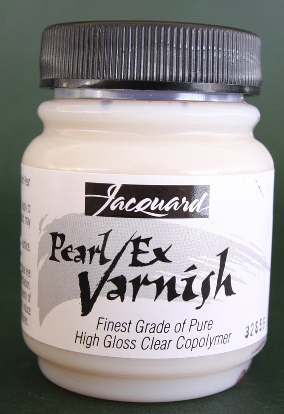 Jacquard Pearl Ex Varnish finest grade of pure gloss clear copolymer, Water based varnish