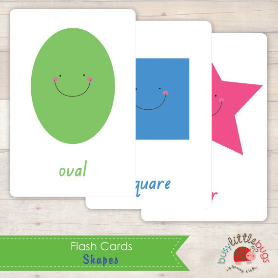 Printable Shapes Flashcards Printable Shape Flashcards