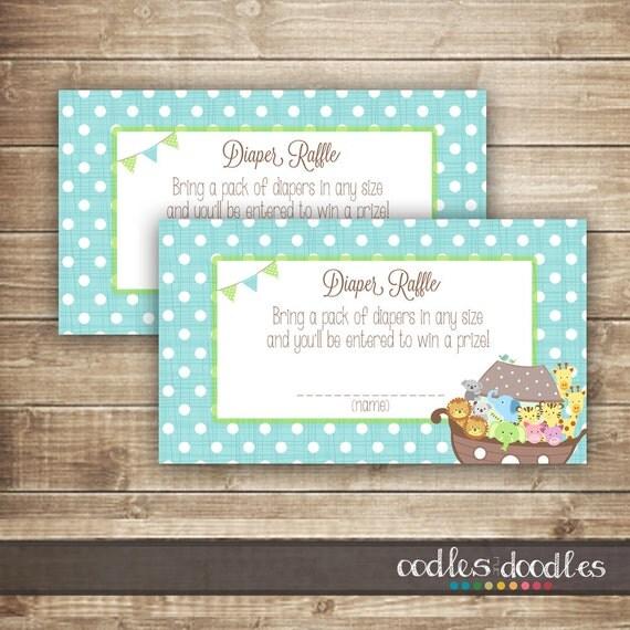 ... Shower / Baby Boy Shower or Sprinkle Printable Diaper Raffle Tickets