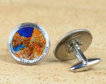 US Cufflinks Grand Canyon Coin