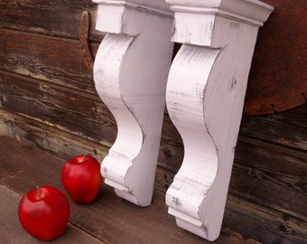 Corbel-(G) set of 2, Vintage look, reclaimed wood