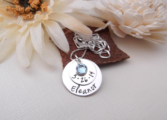 New Mom Necklace- Hand Stamped Mom Necklace- Mommy Jewelry- Personalized Mother Necklace- Mother's Day Gift- Mommy Necklace- New Mommy Gift