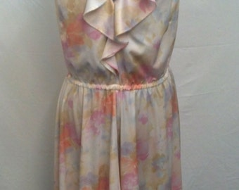 Women's Vintage Handmade Floral Dress