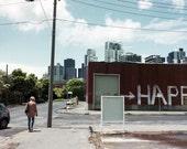 Photographie d'Australie, heureuse, Melbourne, photographie de rue, Street Art, 8 « x 10 »