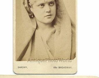 H. Mollenhauer actress antique CDV photo by Sarony