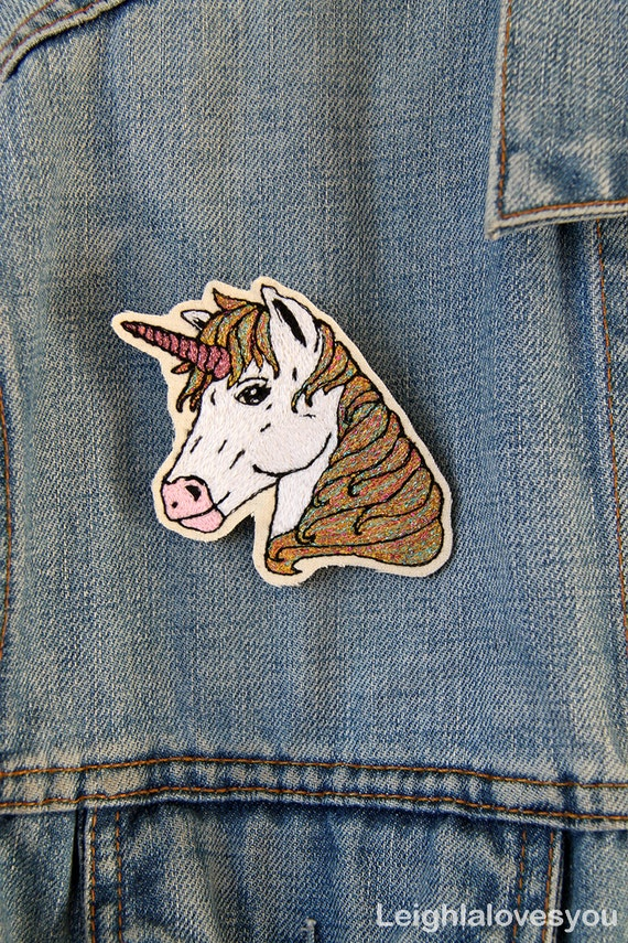 Unicorn Embroidered Patch/Brooch
