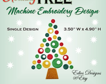 Holiday Tree Machine Embroidery Design Holiday Embroidery Design