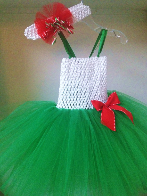 Toddler girls christmas dress size 12 months to girls 10 12 green red