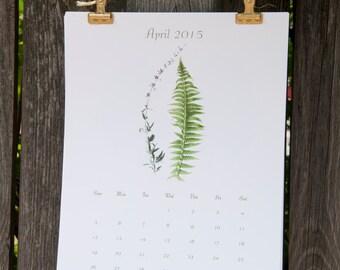 2016 Calendar,  2016 Wall Calendar - Botanical Monthly Calendar - Large Calendar