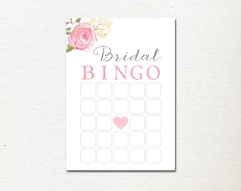 Bridal Bingo Card - Instant Download