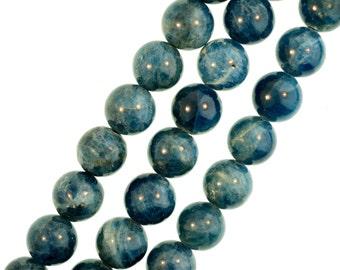 Apatite Round Beads 6 mm Apatite Beads, Blue Gemstone Beads, Full Strand, Aqua Blue - (1) 16 Inch Strand