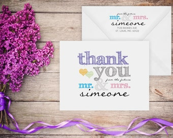 Bridal Shower Thank You Cards – Thank you from the future Mr. & Mrs (DIGITAL FILE)