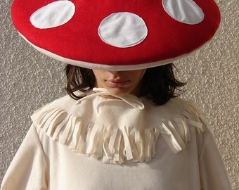 Mushroom costume  with dots for toddlers, kids and adults