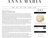 Premade Blogger Template - Instant Download - AnnaMaria - Blog Template - Blog Design - Blog Theme - Blogger Theme
