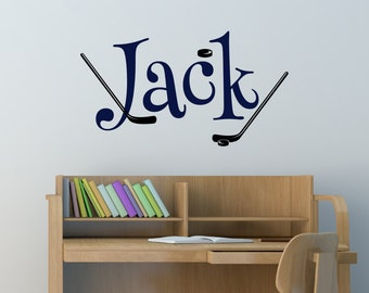Hockey Wall Decal   Hockey Decal   Sports Decal   Boys Wall Decal   Sport  Wall