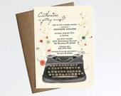 Vintage Typewriter Bridal Shower invitation - Printable file