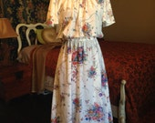 Sweet Vintage Floral Pattern Dress for Spring and Easter