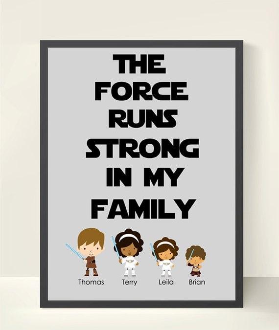 Star Wars Personalized Family Wall Art Family Tree