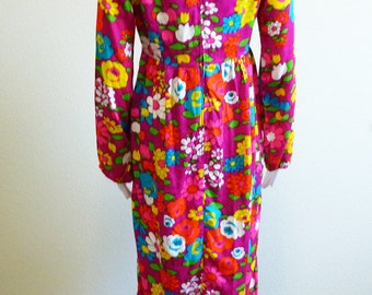 Peasant Dress Floral Daisy Long Hippie