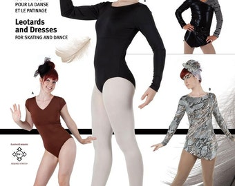 Jalie Leotards, Skating or Dance Dress Sewing Pattern #3136 in 22 Sizes Misses & Girls