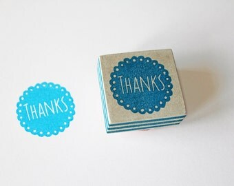 Thank you stamp, hand carved