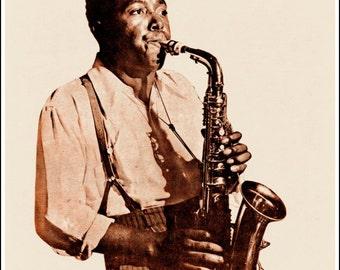 Charlie Parker Jazz Saxophone Print