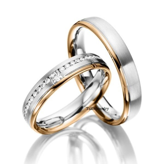 His Amp Hers Wedding Rings10k Two Tone Gold Matching Wedding