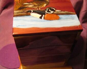 SWIVAL CEDAR JEWELRY Box-Ducks