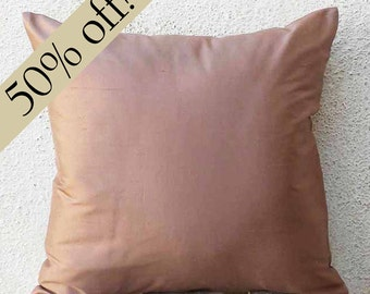 "Onion Pink Silk Dupioni Pillow Cover 15 x 15  - ""HALF PRICE SALE"" - s23F"