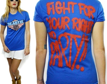 Vintage 80s Beastie Boys Fight For Your Right To Party Rare 50/50 T Shirt